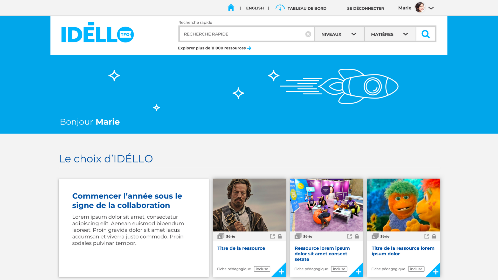 Preview of IDÉLLO's website